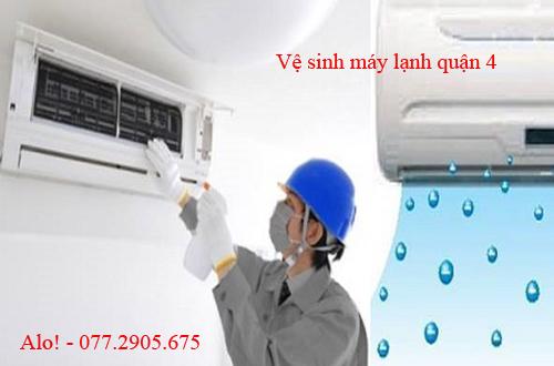 Dịch vụ vệ sinh máy lạnh quận 4 chuyên nghiệp