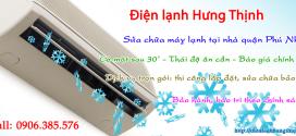 Sửa chữa máy lạnh quận Phú Nhuận